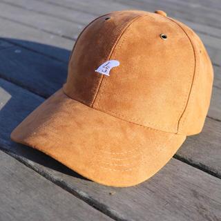 スタンダードカリフォルニア(STANDARD CALIFORNIA)の西海岸系☆LUSSO SURF スウェード刺繍キャッ帽子☆RVCA(キャップ)