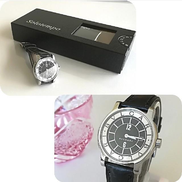 ロレックス レディース コピー - BVLGARI - 綺麗 ブルガリ 新品仕上げ 黒 レディースウォッチ 時計 レザー 入学式 極美品の通販