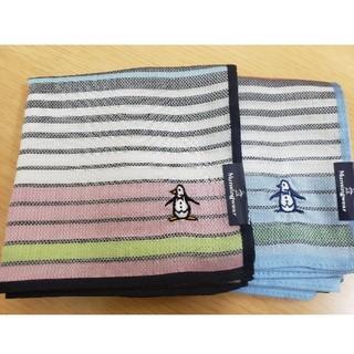 マンシングウェア(Munsingwear)のmunsingwear ハンカチ 未使用二枚セット(ハンカチ/ポケットチーフ)