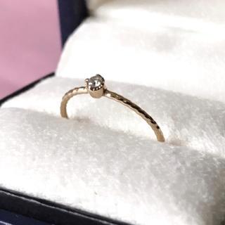 ピンキー リング ダイヤ 0.03ct 10金 3号(リング(指輪))