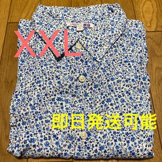 ユニクロ(UNIQLO)の必見❸ UNIQLO☆美品☆プレミアムプリントシャツ 長袖 XXL(シャツ)