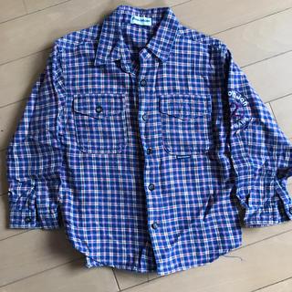 ムージョンジョン(mou jon jon)のムージョンジョン 110 チェックシャツ(カーディガン)