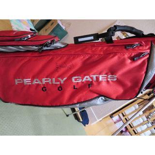 パーリーゲイツ(PEARLY GATES)の【確認用】パーリーゲイツキャディバッグ(藤田寛之さんのサイン入り)(バッグ)