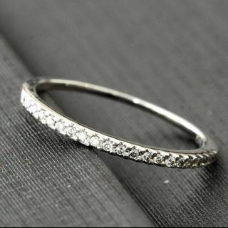 美品 k14WG 0.2カラット ダイヤモンドリング ホワイトゴールド(リング(指輪))