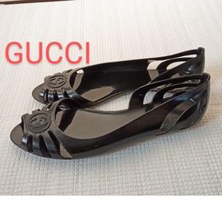 Gucci - 【美品】Gucci グッチ フラット サンダル EVA合成樹脂 ミラノ購入