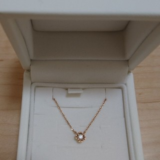 4℃ - 4℃ ダイヤモンドネックレス ピンクゴールド 10k