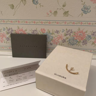 エストネーション(ESTNATION)のHirotaka ヒロタカ BOW diamond earring K10YG(ピアス)