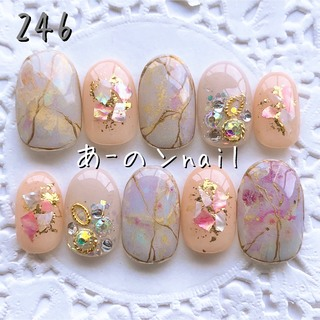 送料&カラー変更1色無料«246»ジェルネイルチップ♡*゜