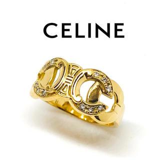 セリーヌ(celine)のCELINE  セリーヌ  K18  ダイヤモンド  幅広  リング(リング(指輪))