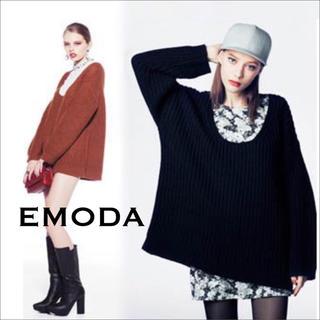 エモダ(EMODA)のEMODA ボーイフレンド ニット ワンピース♡ムルーア GYDA マウジー(ミニワンピース)