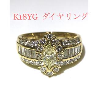 K18YG  ダイヤリング(リング(指輪))