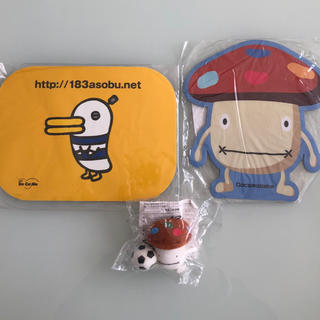 NTTdocomo - ドコモダケ ドコモドリ マウスパッドとドコモダケマスコット液晶クリーナー