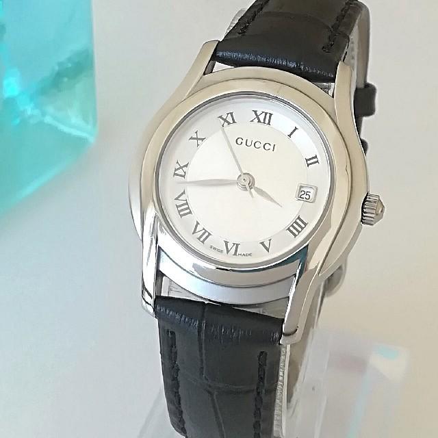 ロレックス コピー 懐中 時計 - Gucci - 綺麗 グッチ 3針 新品仕上 新品レザー 白 レディースウォッチ 時計 極美品の通販