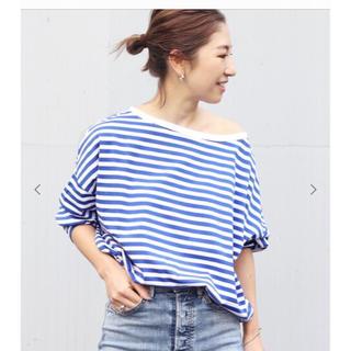 プラージュ(Plage)のPlage 【R'IAM】ボーダーTシャツ ブルー(Tシャツ(長袖/七分))
