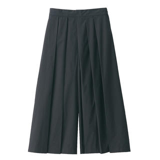 MUJI (無印良品) - ストレッチ高密度織りはかまパンツ 婦人M・黒