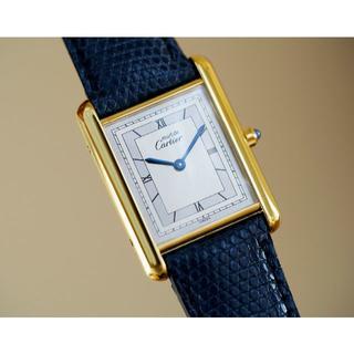 カルティエ(Cartier)の美品 カルティエ マスト タンク シルバーダイアル LM Cartier(腕時計(アナログ))