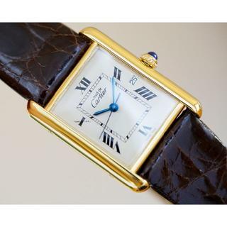 カルティエ(Cartier)の美品 カルティエ マスト タンク ホワイト デイト LM Cartier(腕時計(アナログ))