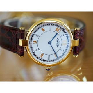 カルティエ(Cartier)の美品 カルティエ マスト ヴァンドーム ゴールドアラビア LM Cartier(腕時計(アナログ))