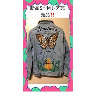 ZARA - 新品ZARA ザラ 刺繍デニムジャケット Gジャン完売品❗️激レア❗️S〜M