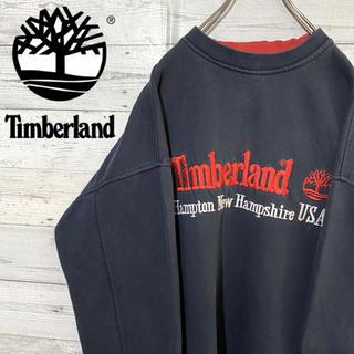 Timberland - 【レア】ティンバーランド☆刺繍ビッグロゴ ビッグサイズ スウェット
