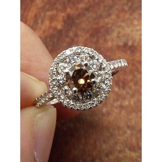 人気です!コーヒーブラウンダイヤです!Pt900ダイヤリング 11.5号(リング(指輪))