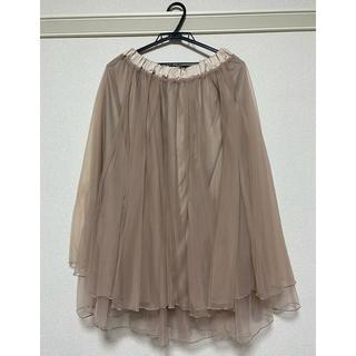 ナイスクラップ(NICE CLAUP)のNICE CLAUP くすみピンク チュールスカート(ロングスカート)