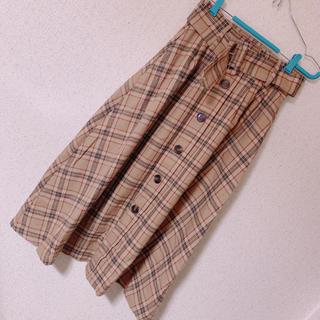 スピンズ(SPINNS)のチェックロングスカート(ロングスカート)