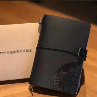 スターバックスコーヒー(Starbucks Coffee)の【即購入大歓迎】スターバックス 海外限定 ノート 手帳 黒(ノート/メモ帳/ふせん)