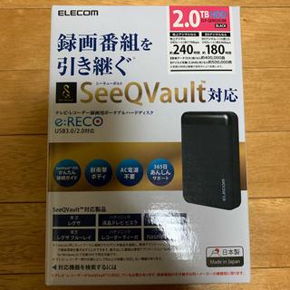 ELECOM - 新品 エレコム SeeQVault対応2.5inch外付けHDD 2TB