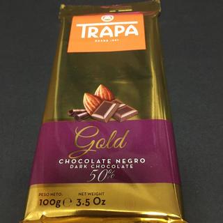 チョコレート(chocolate)のトラパ ゴールド ダークチョコレート カカオ分50%  1枚(菓子/デザート)