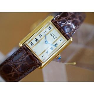 カルティエ(Cartier)の美品 カルティエ マスト タンク ゴールドライン ローマン LM Cartier(腕時計(アナログ))