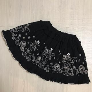 メゾピアノ(mezzo piano)の専用⭐️メゾピアノ パフェ 刺しゅう フリル  スカート 110 黒(スカート)