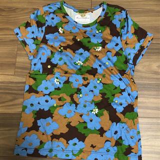 ミュベールワーク(MUVEIL WORK)のミュベール ラインストーンTシャツ(Tシャツ(半袖/袖なし))