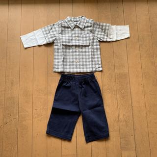 カーターズ(carter's)の送料込  未使用品 カーターズ 長袖シャツとズボン 6M(60cm) ベビー ⑬(シャツ/カットソー)