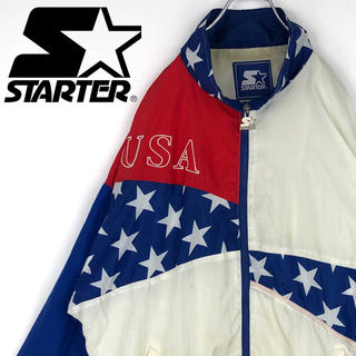 ナイキ(NIKE)のスターター USA 星条旗 ナイロンジャケット ブルゾン ワンポイント刺繍ロゴ(ナイロンジャケット)