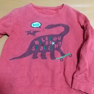 サンカンシオン(3can4on)の子供服 100cm ブラキオサウルス ? 本体 綿100%(Tシャツ/カットソー)
