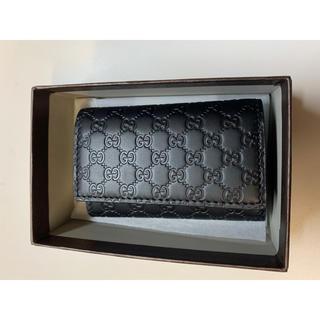 Gucci - 新品 GUCCI マイクロGGグッチシマ キーケース ブラック