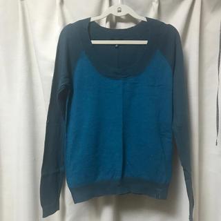 ハーレー(Hurley)のコットンニット ブルー(Tシャツ/カットソー(七分/長袖))