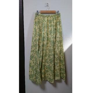 ローリーズファーム(LOWRYS FARM)のLOWRYS FARM ボタニカル柄シフォンロングスカート(ロングスカート)