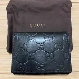 Gucci - GUCCI シマレザー カードケース パスケース