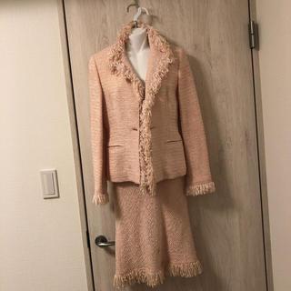 ノーベスパジオ(NOVESPAZIO)のノーベスパジオ    ピンク ツイード  スーツ(スーツ)