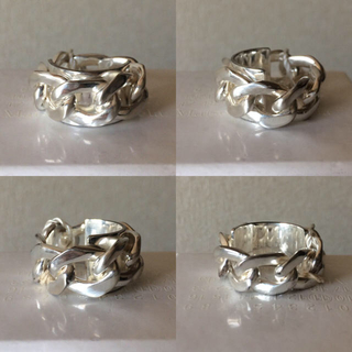 マルタンマルジェラ(Maison Martin Margiela)の新品 19SS メゾンマルジェラ チェーンリング M リング マルジェラ(リング(指輪))