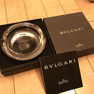 BVLGARI - BVLGARI クリアガラス灰皿