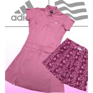 adidas - 美品♡アディダスゴルフ CLIMACOOL 半袖 パンツ付 ゴルフワンピース