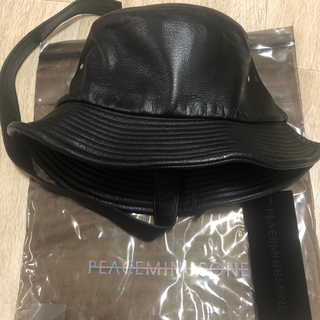 ピースマイナスワン(PEACEMINUSONE)のPeaceminusone PMO LEATHER BUCKET HAT #1(ハット)