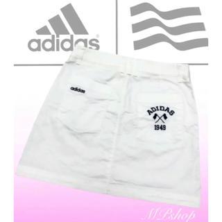 adidas - 美品♡アディダスゴルフ ゴルフスカート  ゴルフウェア  S  白