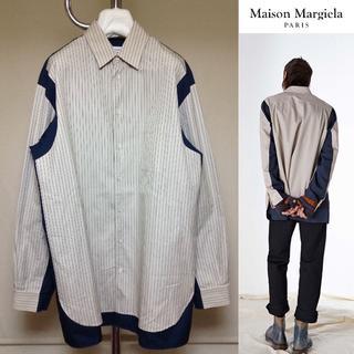 マルタンマルジェラ(Maison Martin Margiela)の極美品■38■マルジェラ 17aw■再構築オーバーサイズシャツ■7492(シャツ)
