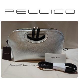 PELLICO - 新品 ペリーコ アネッリ 2way バッグ シルバー×ブラック