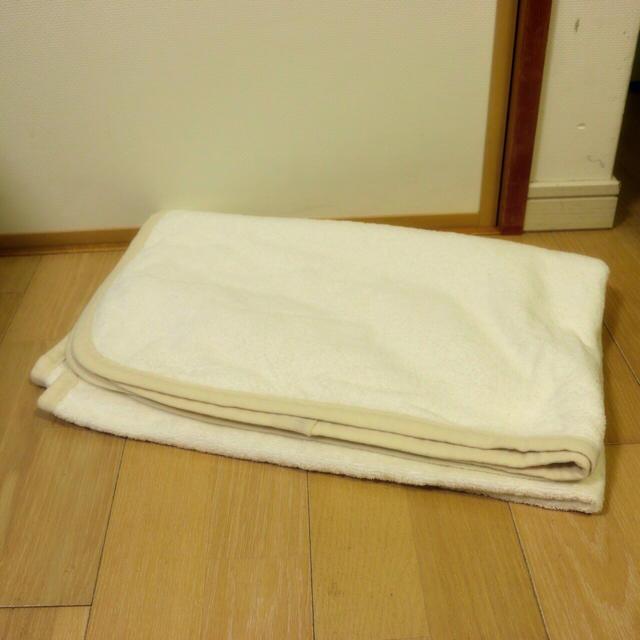MUJI (無印良品)(ムジルシリョウヒン)のまいまい様専用✳︎洗える綿毛布 キッズ/ベビー/マタニティの寝具/家具(毛布)の商品写真