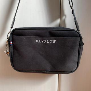 ベイフロー(BAYFLOW)のBAYFLOW ロゴショルダーバッグ/黒(ショルダーバッグ)